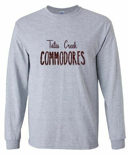 TC Commodores Unisex Long Sleeve -  YOUTH and ADULT - Choice of Design Fabric (TCDT)