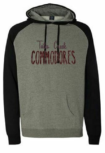 TC Commodores Unisex Raglan Hoodie  (TCDT) Choice of Design Fabric