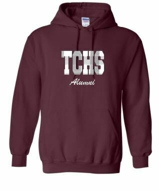 TCHS Alumni Applique Unisex Hoodie ADULT - Choice of Design Fabric (TCDT)