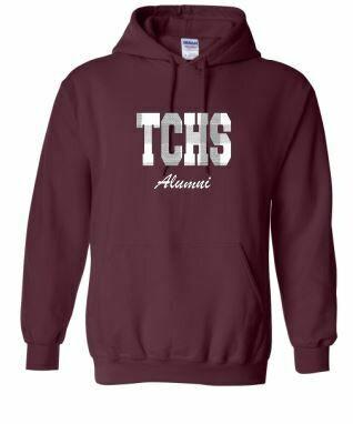 TCHS Alumni Applique Unisex Hoodie ADULT - Choice of Design Fabric (TCDT)