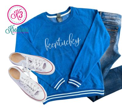 Ladies Kentucky Script Relay Crewneck Sweatshirt