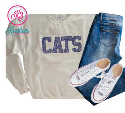 Adult Kentucky CATS White Crewneck Sweatshirt