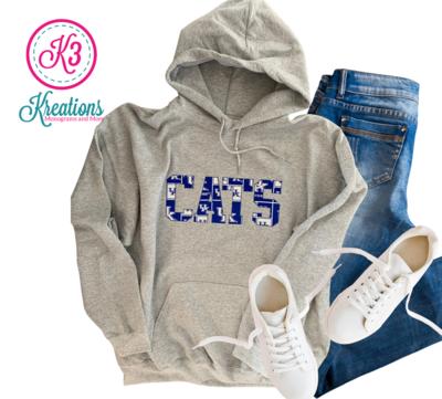 Adult Kentucky CATS Gray Hoodie