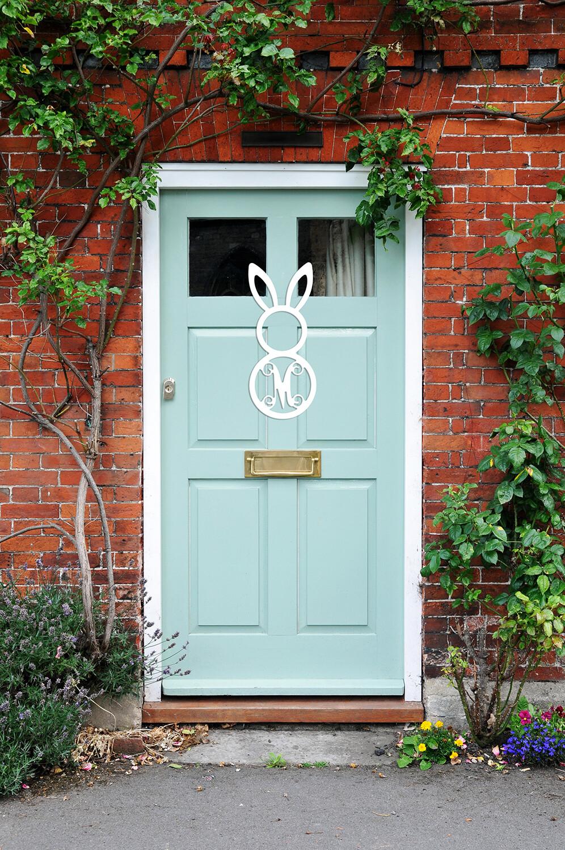 Easter Bunny Wood Monogram