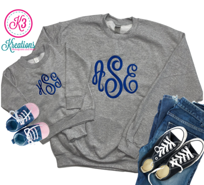 Mommy & Me Matching Monogram Sweatshirts