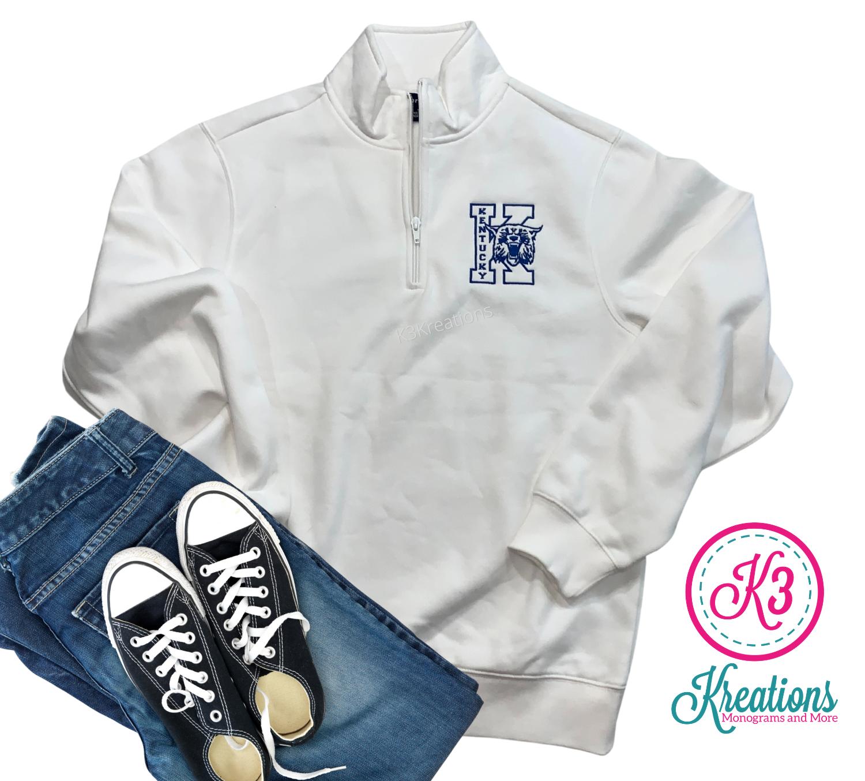 Adult Kentucky Big K Wildcat Quarter Zip Sweatshirt