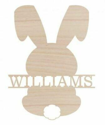 Bunny Name Wood Monogram