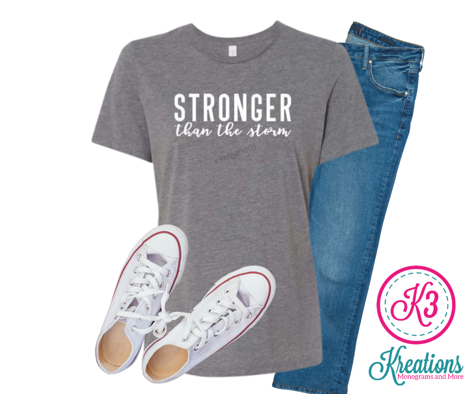 Ladies Stronger Than the Storm Relaxed Fit Short Sleeve Tee