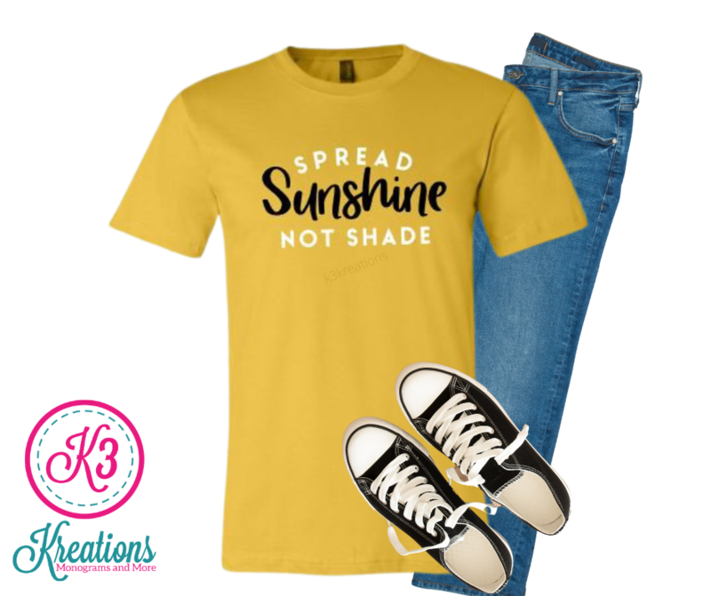 Adult Spread Sunshine Not Shade Bella + Canvas Short Sleeve Tee
