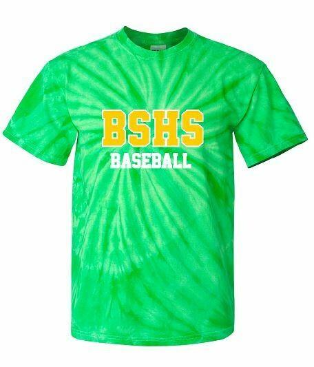BSHS Baseball Tie-Dye Short Sleeve Tee (BSB)