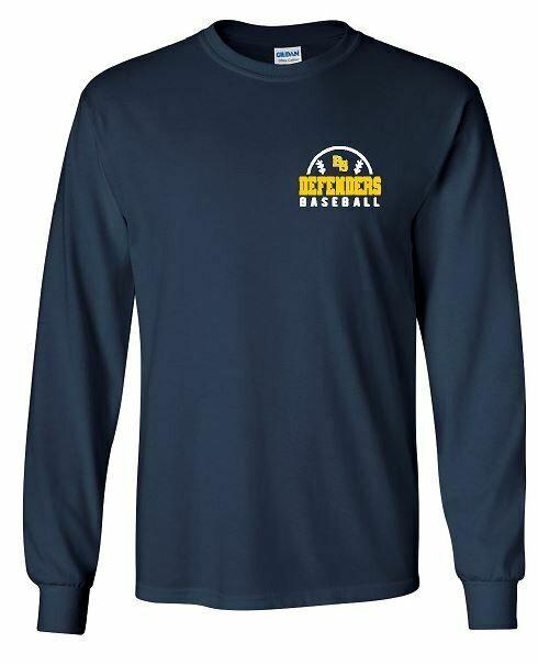 BS Defenders Baseball left chest design Long Sleeve (BSB)