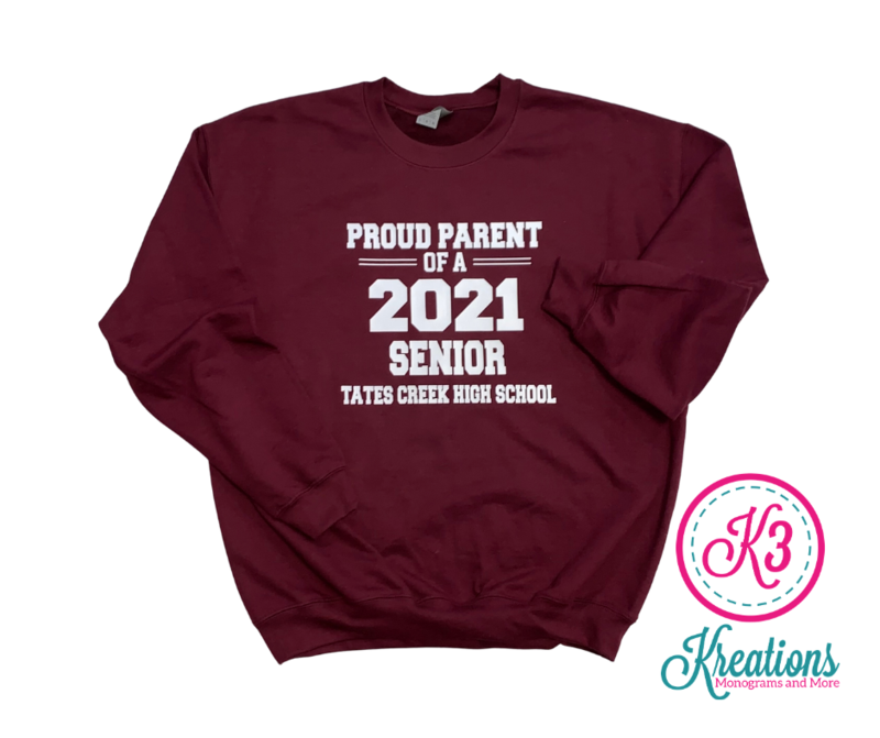 Proud Parent Unisex Crewneck ADULT  (TCDT)