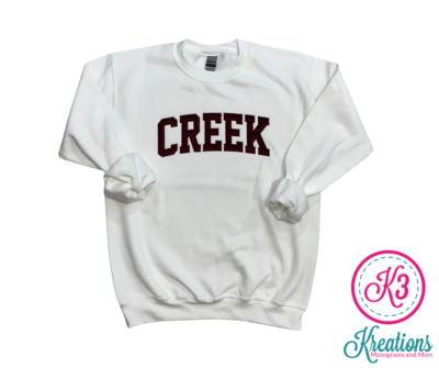 CREEK Unisex Crewneck - YOUTH and ADULT - Choice of Design Fabric (TCDT)