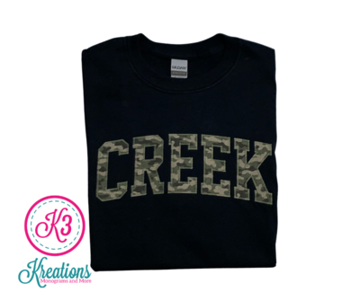 CREEK Unisex Short Sleeve  YOUTH and ADULT - Choice of Design Fabric (TCDT)