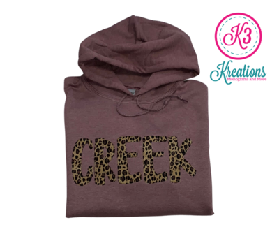 CREEK Fun Font Unisex Hoodie - YOUTH and ADULT - Choice of Design Fabric (TCDT)