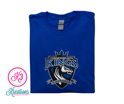 Commonwealth Kings Front Chest Applique Short Sleeve Tee