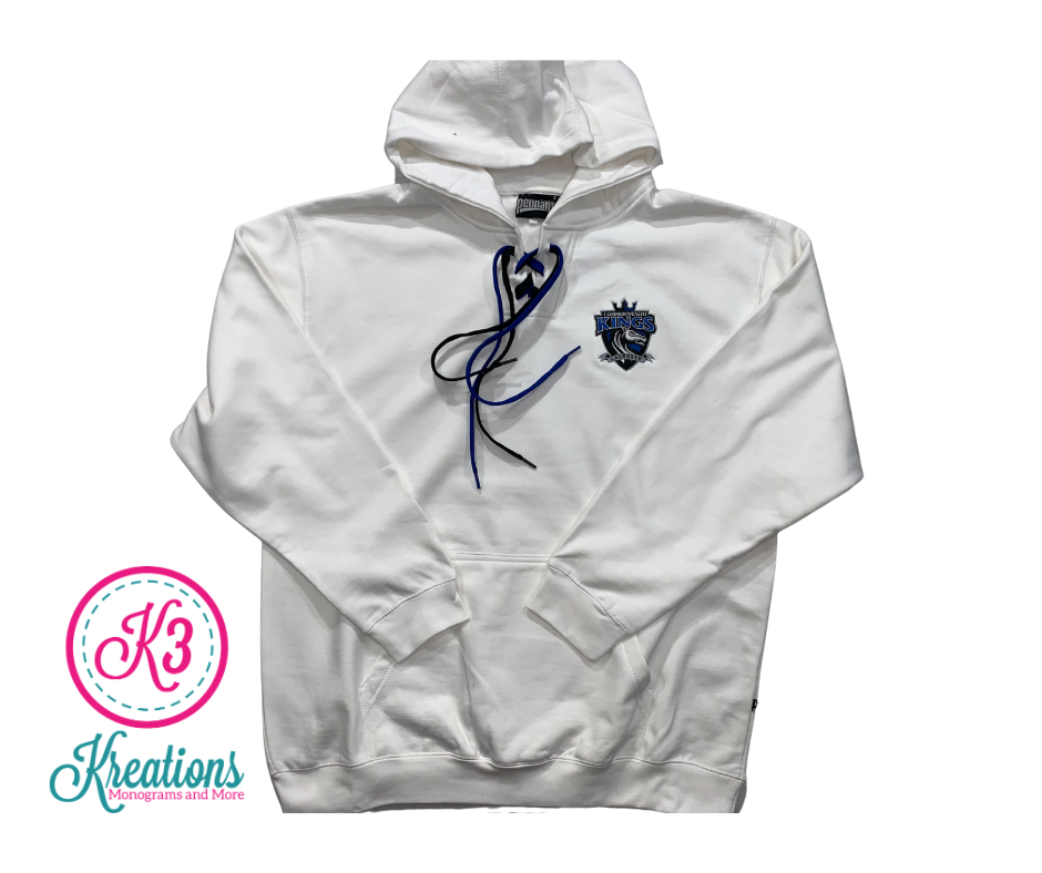 Commonwealth Kings Left Chest Applique Lace-Up Hoodie