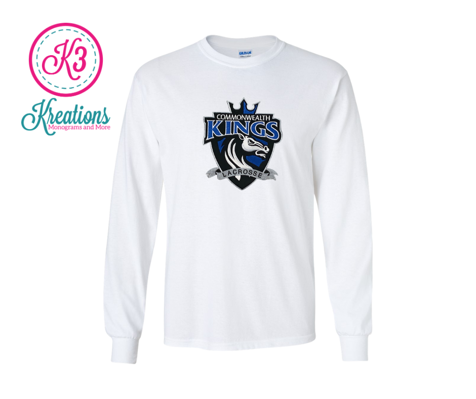 Commonwealth Kings Front Chest Applique Long Sleeve Tee