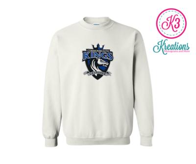 Commonwealth Kings Front Chest Applique Crewneck Sweatshirt