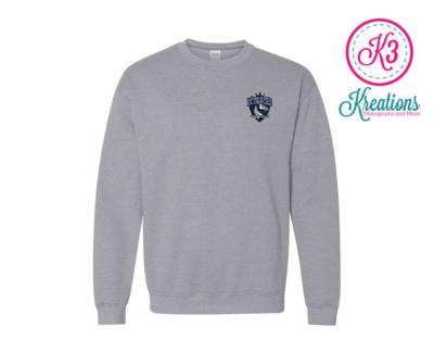 Commonwealth Kings Left Chest Applique Crewneck Sweatshirt