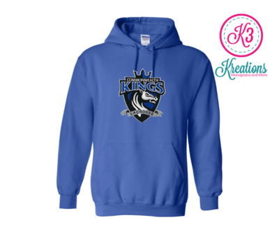Commonwealth Kings Front Chest Applique Hoodie