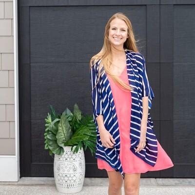 Navy Stripe Emma Top