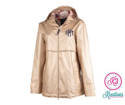 Ladies New Englander Rain Jacket with Printed Lining