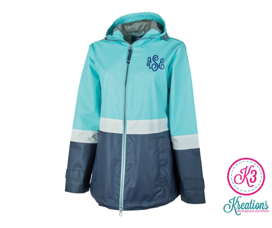 Ladies Charles River Color Block New Englander Rain Jacket