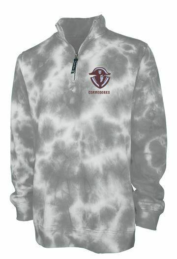 Tates Creek Quarter Zip Tie-Dye Sweatshirt with choice of logo (TCDT)