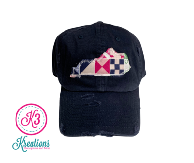 Kentucky Derby Inspired Distressed Cap