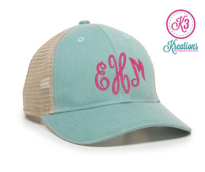 Ladies Monogram Ponytail Mesh-Back Hat