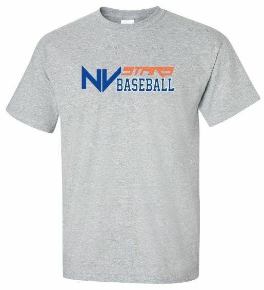 Youth NV Stars Baseball Front Chest Design Short Sleeve Tee (NVA)