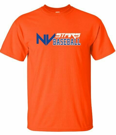 Adult NV Stars Baseball Front Chest Design Short Sleeve Tee (NVA)