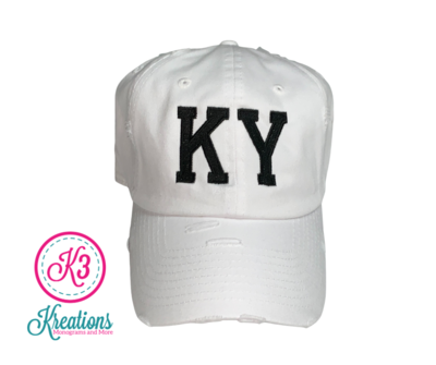 KY Embroidered Ball Cap