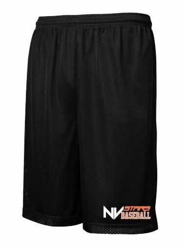 Mens Black NV Stars Baseball Classic Mesh Shorts