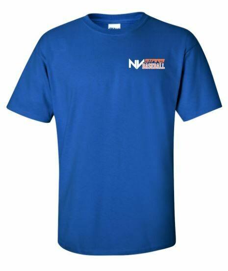 Adult NV Stars Baseball Left Chest Design Short Sleeve Tee (NVA)