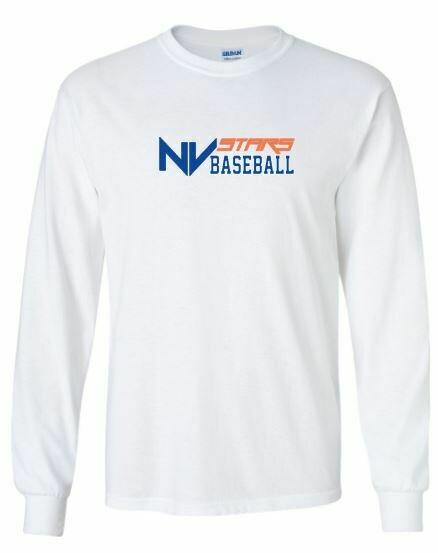 Youth NV Stars Baseball Front Chest Design Long Sleeve Tee (NVA)