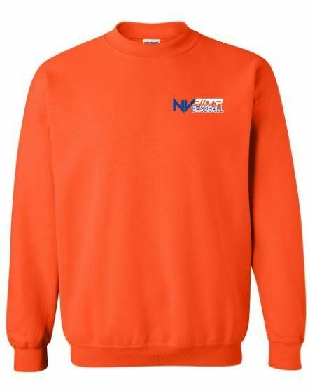 Adult NV Stars Baseball Left Chest Design Crewneck Sweatshirt (NVA)