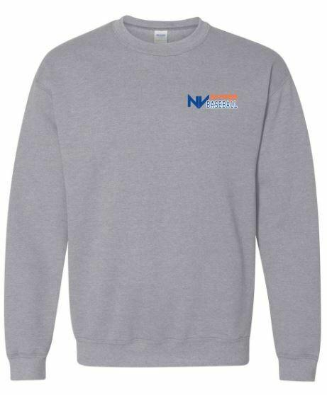 Youth NV Stars Baseball Left Chest Design Crewneck Sweatshirt (NVA)