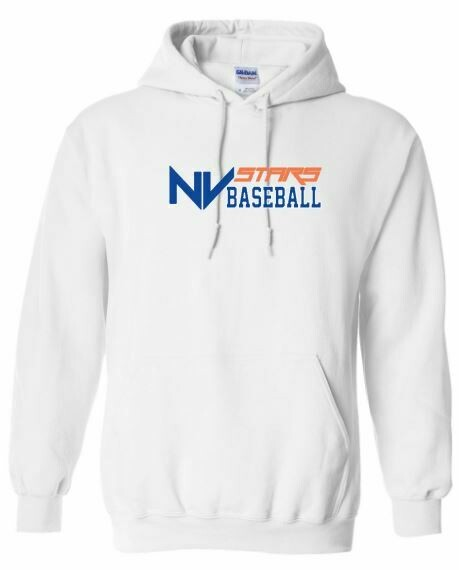 Youth NV Stars Baseball Front Chest Design Hooded Sweatshirt (NVA)