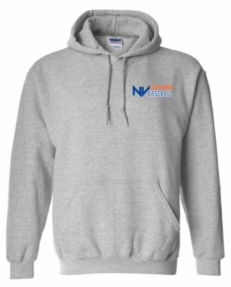 Adult NV Stars Baseball Left Chest Design Hooded Sweatshirt (NVA)
