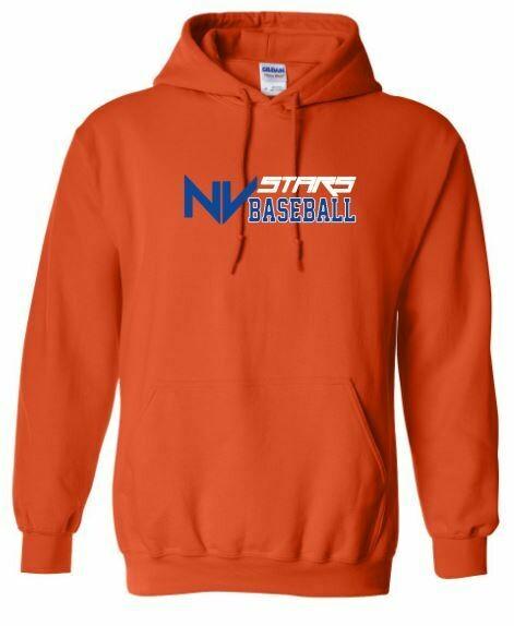 Adult NV Stars Baseball Front Chest Design Hooded Sweatshirt (NVA)