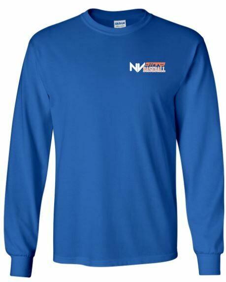 Youth NV Stars Baseball Left Chest Design Long Sleeve Tee (NVA)