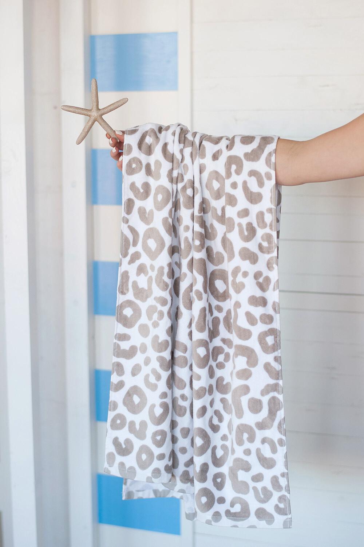 Natural Leopard Beach Towel