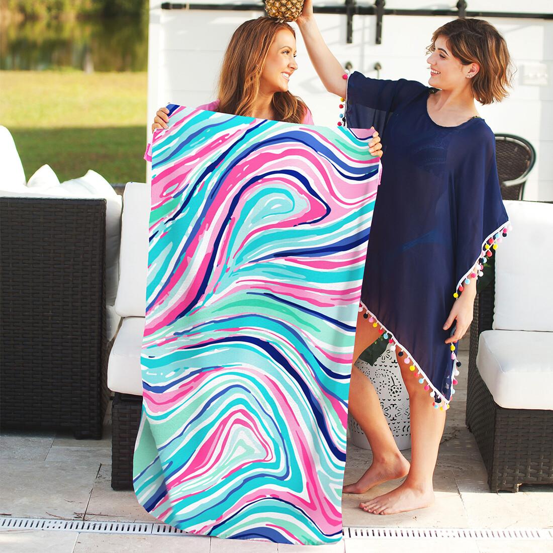 Marble-Ous Beach Towel