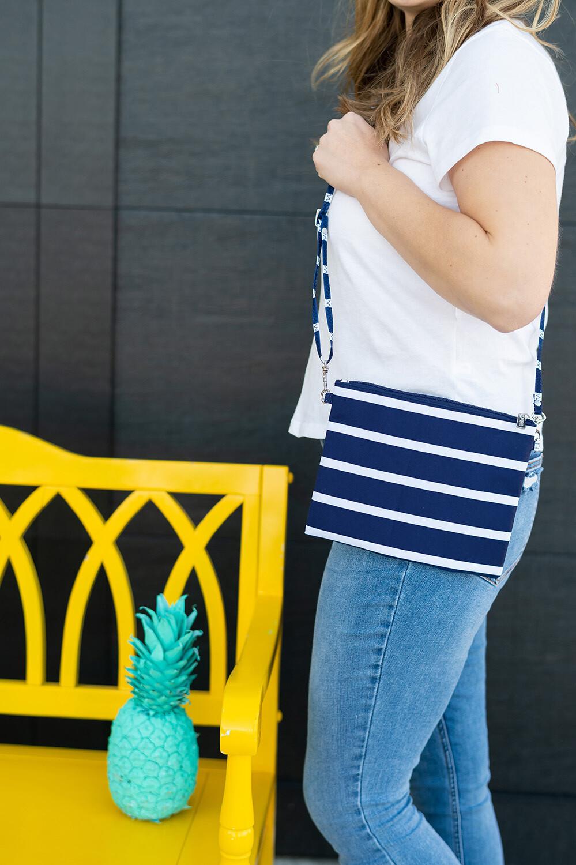Navy Stripe Hayley Purse