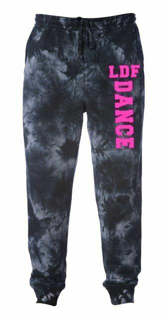 Adult LDF Dance Black Tie-Dye Fleece Pants