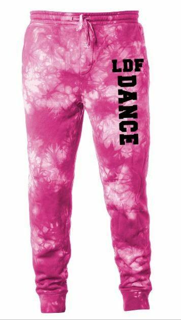 Adult LDF Dance Pink Tie-Dye Fleece Pants (LDF)