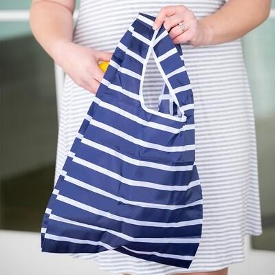 Navy Stripe Reusable Bag