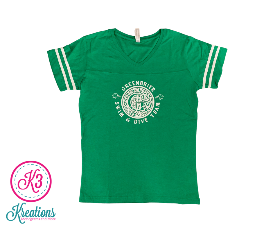 Ladies LAT Jersey with choice of Greenbrier Logo